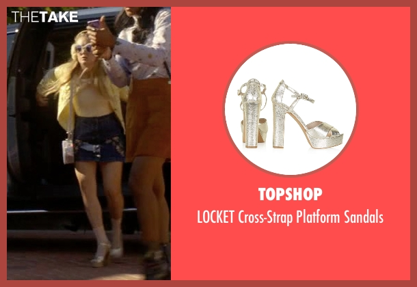 Topshop silver sandals from Scream Queens seen with Chanel #3 (Billie Lourd)