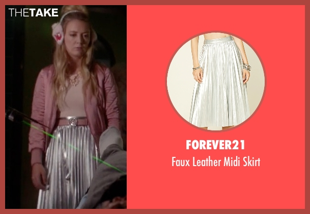 Forever21 silver skirt from Scream Queens seen with Chanel #3 (Billie Lourd)