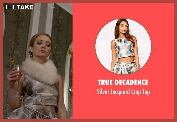 True Decadence silver top from Scream Queens seen with Chanel #3 (Billie Lourd)