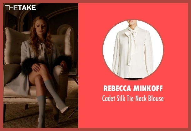 Rebecca Minkoff white blouse from Scream Queens seen with Chanel #3 (Billie Lourd)