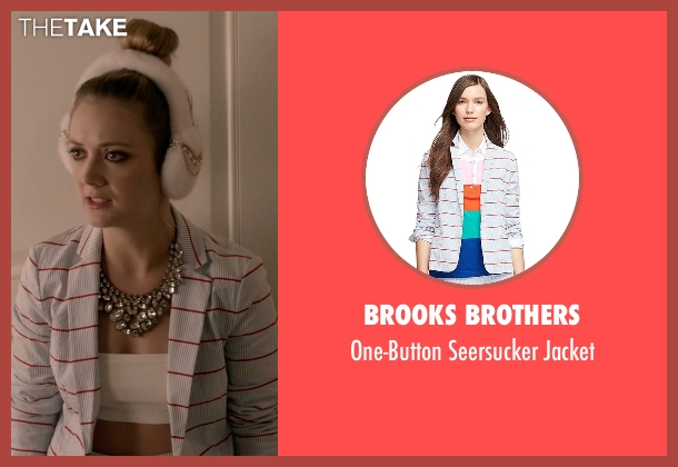 Brooks Brothers white jacket from Scream Queens seen with Chanel #3 (Billie Lourd)