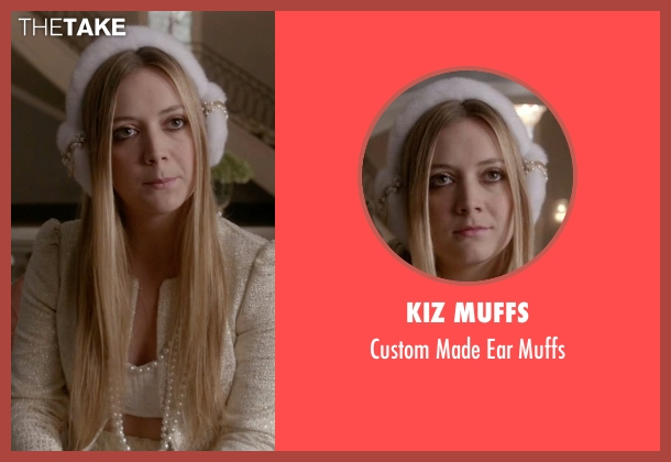 Kiz Muffs white muffs from Scream Queens seen with Chanel #3 (Billie Lourd)