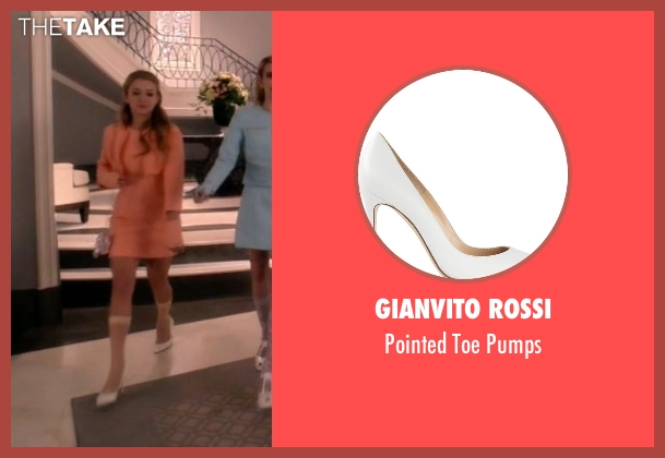 Gianvito Rossi white pumps from Scream Queens seen with Chanel #3 (Billie Lourd)