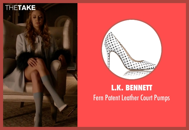 L.K. Bennett white pumps from Scream Queens seen with Chanel #3 (Billie Lourd)