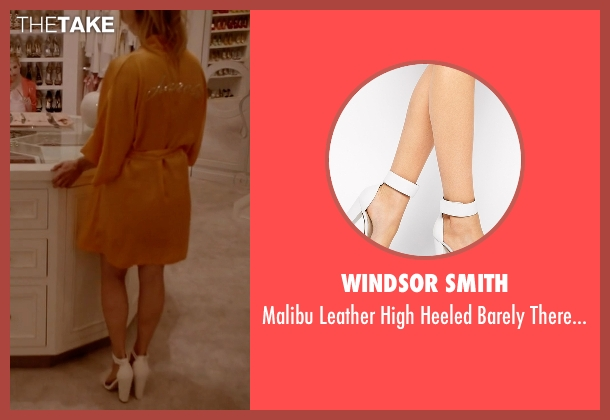 Windsor Smith white sandals from Scream Queens seen with Chanel #3 (Billie Lourd)