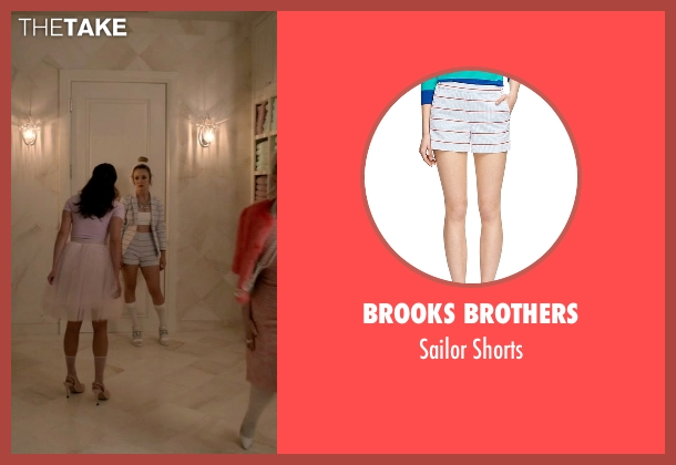 Brooks Brothers white shorts from Scream Queens seen with Chanel #3 (Billie Lourd)