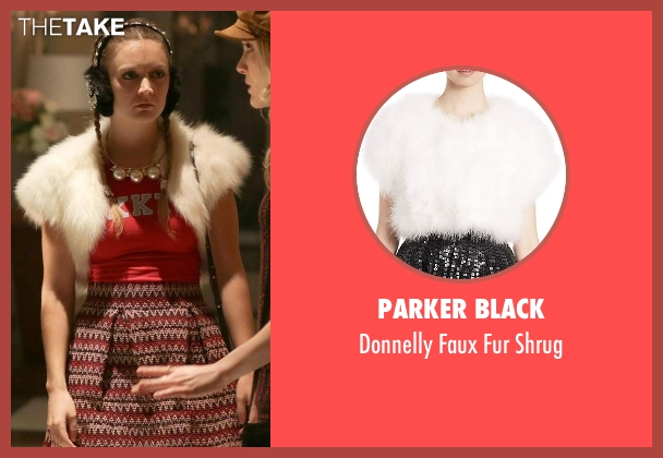 Parker Black white shrug from Scream Queens seen with Chanel #3 (Billie Lourd)