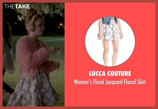 Lucca Couture white skirt from Scream Queens seen with Chanel #3 (Billie Lourd)