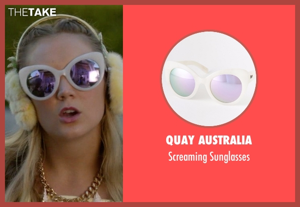 Quay Australia white sunglasses from Scream Queens seen with Chanel #3 (Billie Lourd)