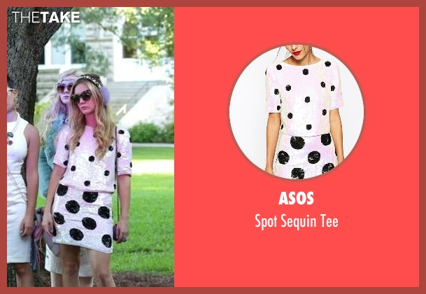 Asos white tee from Scream Queens seen with Chanel #3 (Billie Lourd)