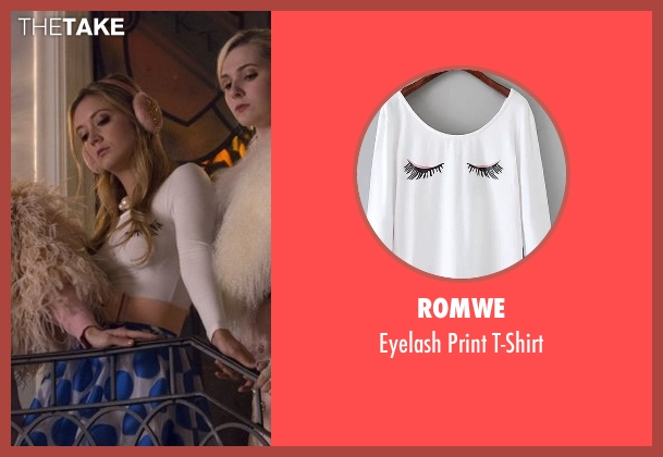 Romwe white t-shirt from Scream Queens seen with Chanel #3 (Billie Lourd)