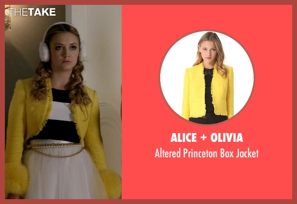 Alice + Olivia yellow jacket from Scream Queens seen with Chanel #3 (Billie Lourd)
