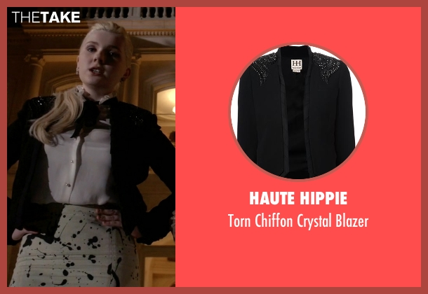 Haute Hippie black blazer from Scream Queens seen with Chanel #5 (Abigail Breslin)