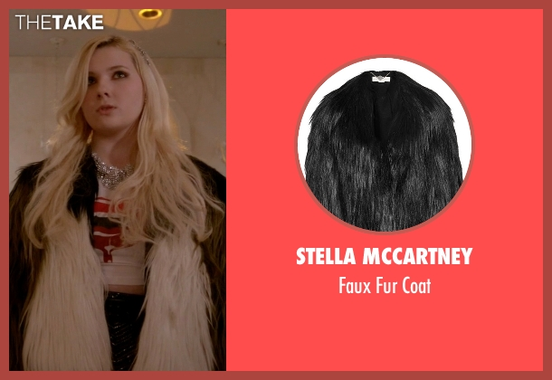 Stella McCartney black coat from Scream Queens seen with Chanel #5 (Abigail Breslin)