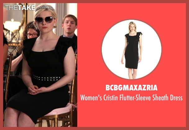 BCBGMAXAZRIA black dress from Scream Queens seen with Chanel #5 (Abigail Breslin)