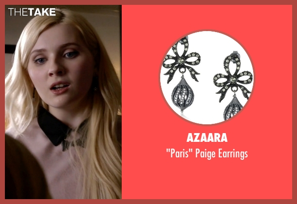 Azaara black earrings from Scream Queens seen with Chanel #5 (Abigail Breslin)