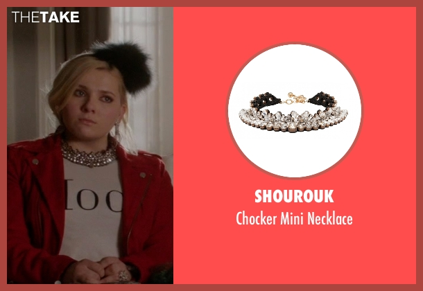 Shourouk black necklace from Scream Queens seen with Chanel #5 (Abigail Breslin)