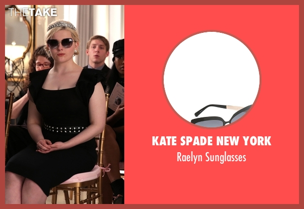 Kate Spade New York black sunglasses from Scream Queens seen with Chanel #5 (Abigail Breslin)