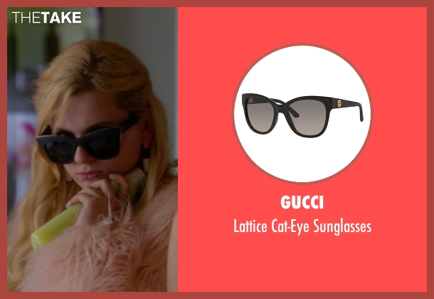 Gucci black sunglasses from Scream Queens seen with Chanel #5 (Abigail Breslin)