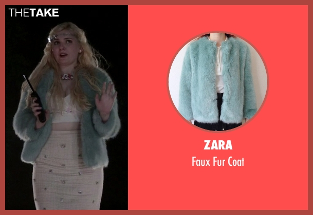 Zara blue coat from Scream Queens seen with Chanel #5 (Abigail Breslin)