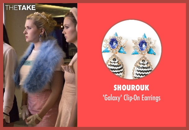 Shourouk blue earrings from Scream Queens seen with Chanel #5 (Abigail Breslin)