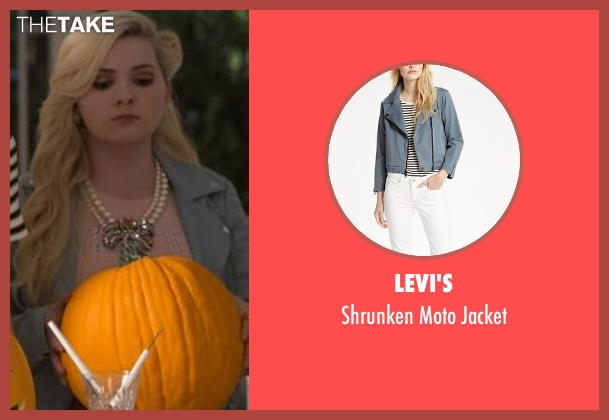 Levi's blue jacket from Scream Queens seen with Chanel #5 (Abigail Breslin)