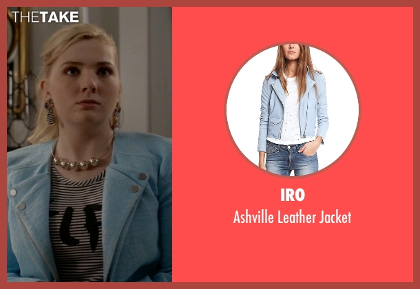 Iro blue jacket from Scream Queens seen with Chanel #5 (Abigail Breslin)