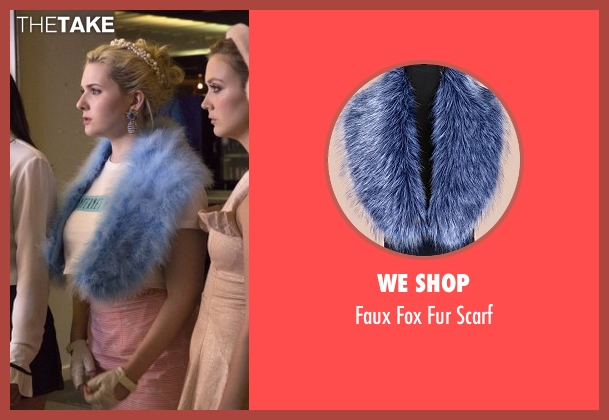 We Shop blue scarf from Scream Queens seen with Chanel #5 (Abigail Breslin)