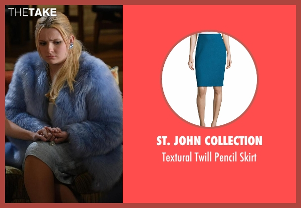 St. John Collection blue skirt from Scream Queens seen with Chanel #5 (Abigail Breslin)
