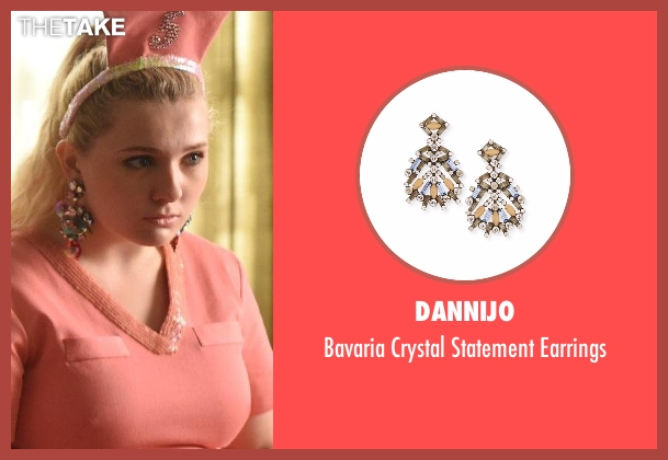 Dannijo earrings from Scream Queens seen with Chanel #5 (Abigail Breslin)