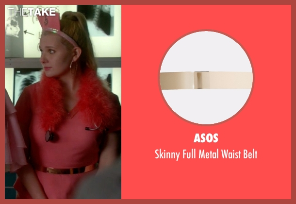 Asos gold belt from Scream Queens seen with Chanel #5 (Abigail Breslin)