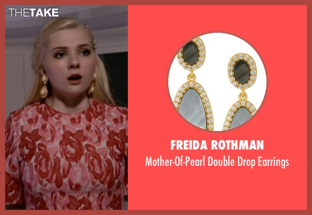 Freida Rothman gold earrings from Scream Queens seen with Chanel #5 (Abigail Breslin)