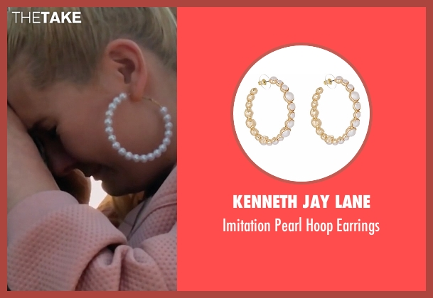 Kenneth Jay Lane gold earrings from Scream Queens seen with Chanel #5 (Abigail Breslin)