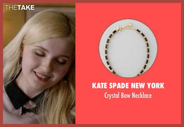 Kate Spade New York gold necklace from Scream Queens seen with Chanel #5 (Abigail Breslin)