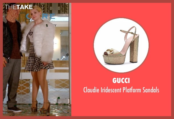 Gucci  gold sandals from Scream Queens seen with Chanel #5 (Abigail Breslin)