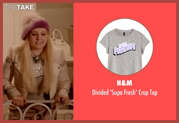 H&M gray top from Scream Queens seen with Chanel #5 (Abigail Breslin)
