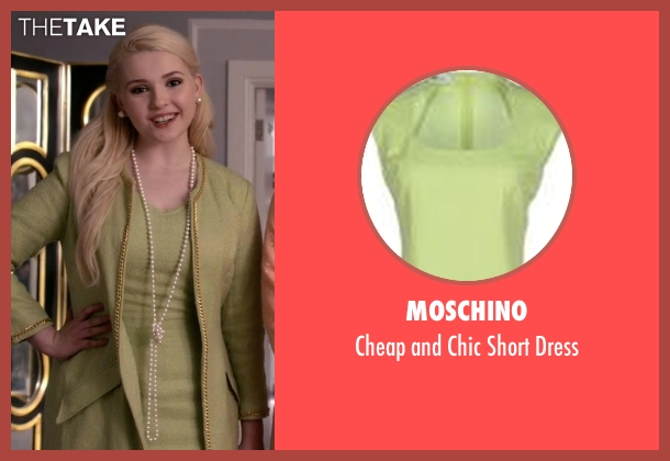 Moschino green dress from Scream Queens seen with Chanel #5 (Abigail Breslin)