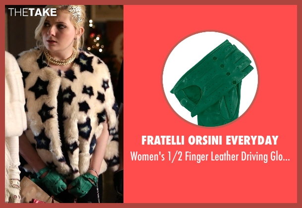Fratelli Orsini Everyday green gloves from Scream Queens seen with Chanel #5 (Abigail Breslin)