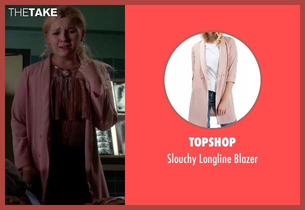 Topshop pink blazer from Scream Queens seen with Chanel #5 (Abigail Breslin)