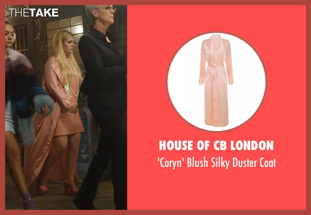House of CB London pink coat from Scream Queens seen with Chanel #5 (Abigail Breslin)