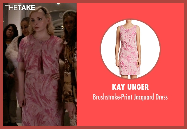 Kay Unger pink dress from Scream Queens seen with Chanel #5 (Abigail Breslin)