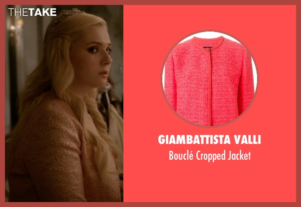 Giambattista Valli pink jacket from Scream Queens seen with Chanel #5 (Abigail Breslin)