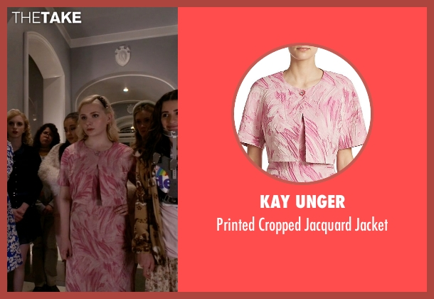 Kay Unger pink jacket from Scream Queens seen with Chanel #5 (Abigail Breslin)