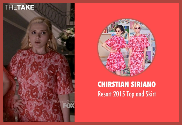 Chirstian Siriano pink skirt from Scream Queens seen with Chanel #5 (Abigail Breslin)