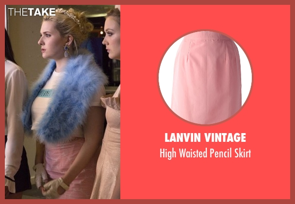 Lanvin Vintage pink skirt from Scream Queens seen with Chanel #5 (Abigail Breslin)