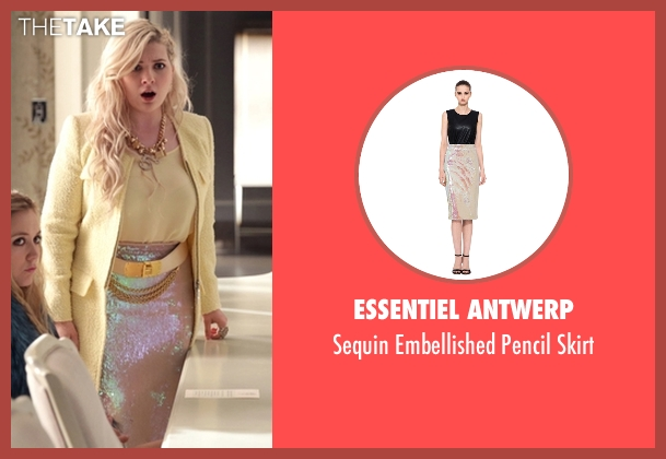 Essentiel Antwerp pink skirt from Scream Queens seen with Chanel #5 (Abigail Breslin)
