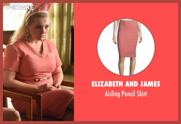 Elizabeth and James pink skirt from Scream Queens seen with Chanel #5 (Abigail Breslin)