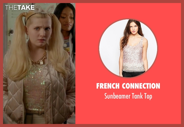 French Connection pink top from Scream Queens seen with Chanel #5 (Abigail Breslin)