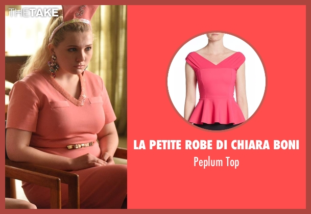 La Petite Robe Di Chiara Boni pink top from Scream Queens seen with Chanel #5 (Abigail Breslin)