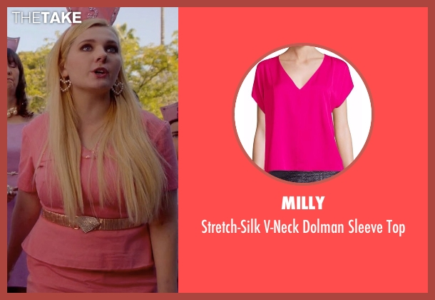 Milly pink top from Scream Queens seen with Chanel #5 (Abigail Breslin)